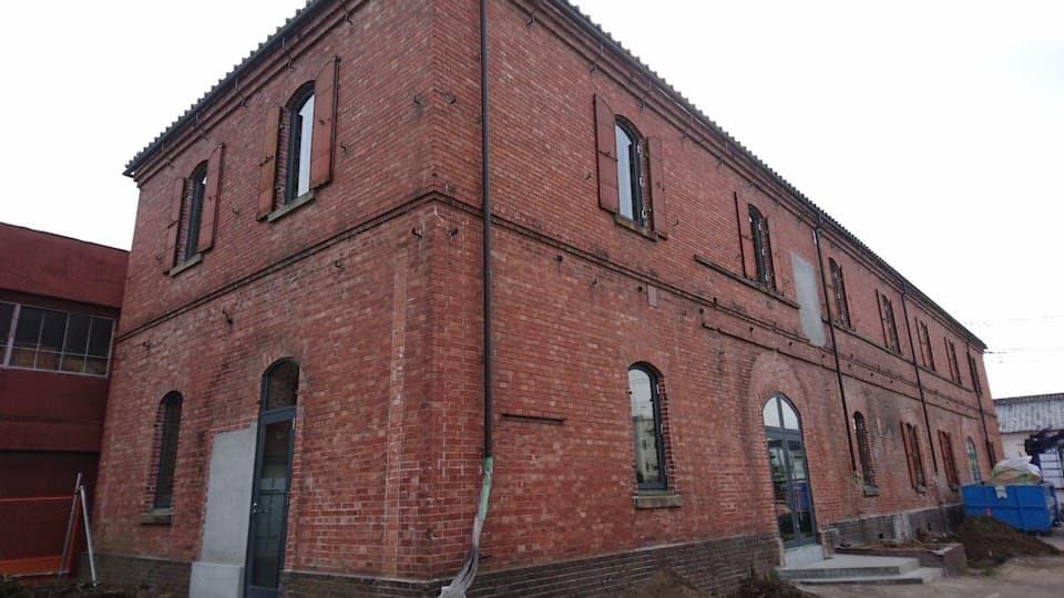 旧本庄商業銀行のレンガ造りの倉庫