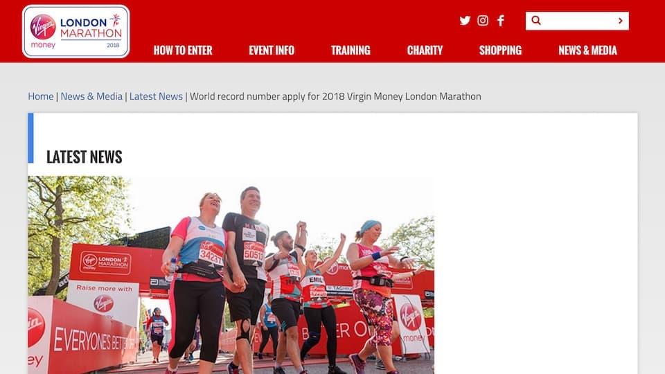 世界記録更新!《ロンドンマラソン2018》のエントリー数は過去最多の38万人!
