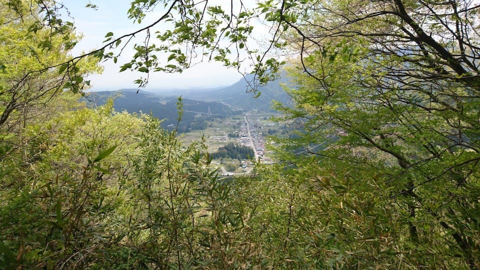 碓氷峠から坂本宿を見下ろす