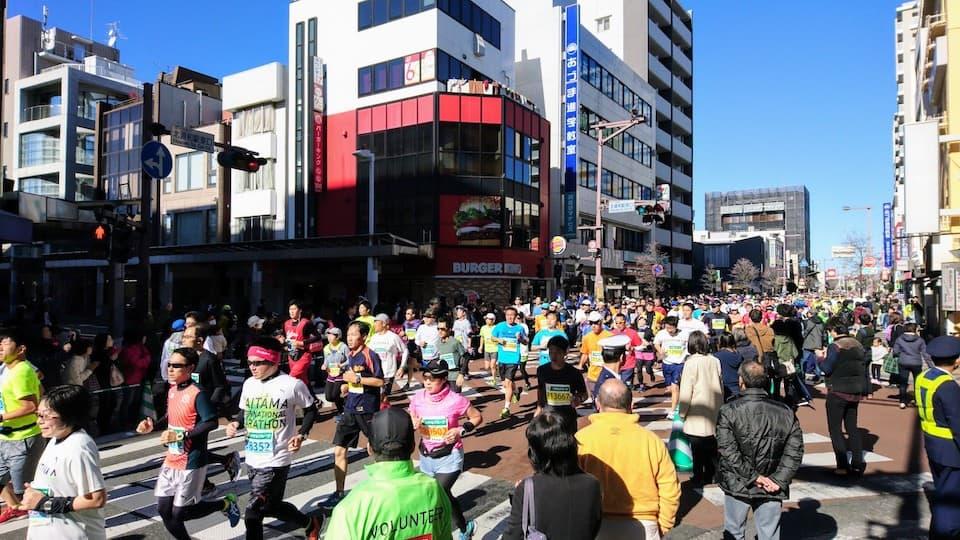 さいたま国際マラソン 北浦和駅東口