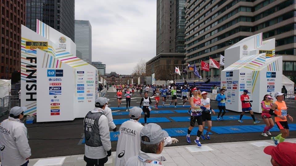 東京マラソンのフィニッシュ地点