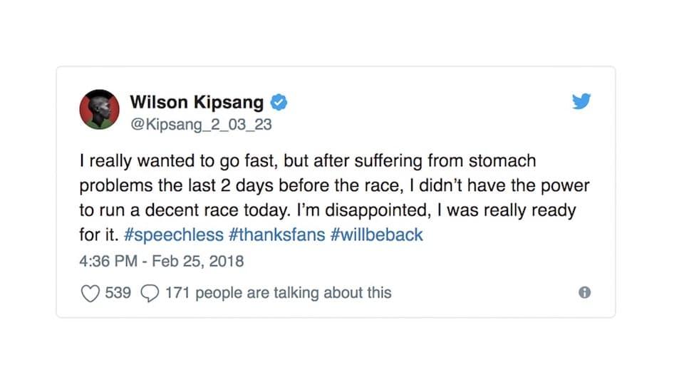 敗者の美学。ウィルソン・キプサングの「#willbeback」宣言がカッコ良すぎ|ともらん