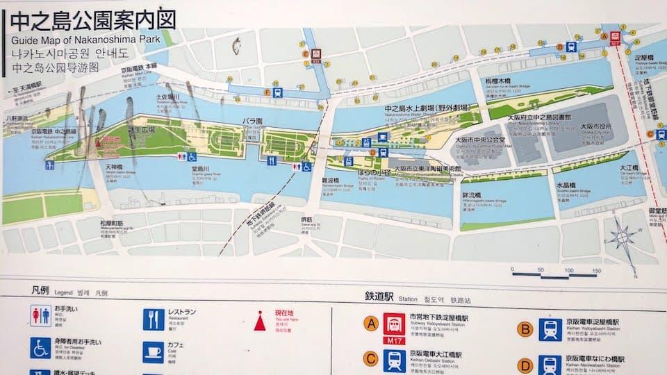 中之島公園の地図
