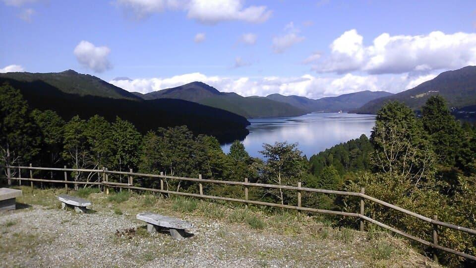 芦ノ湖を一望