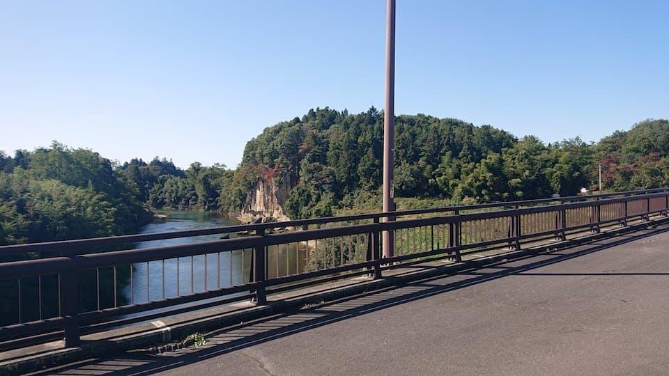 コースから見た阿武隈川