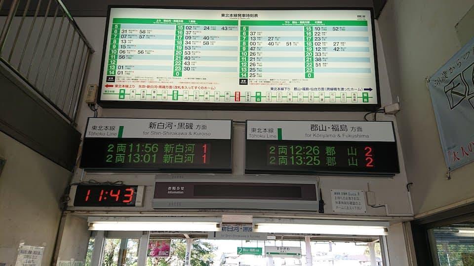 須賀川駅の改札口