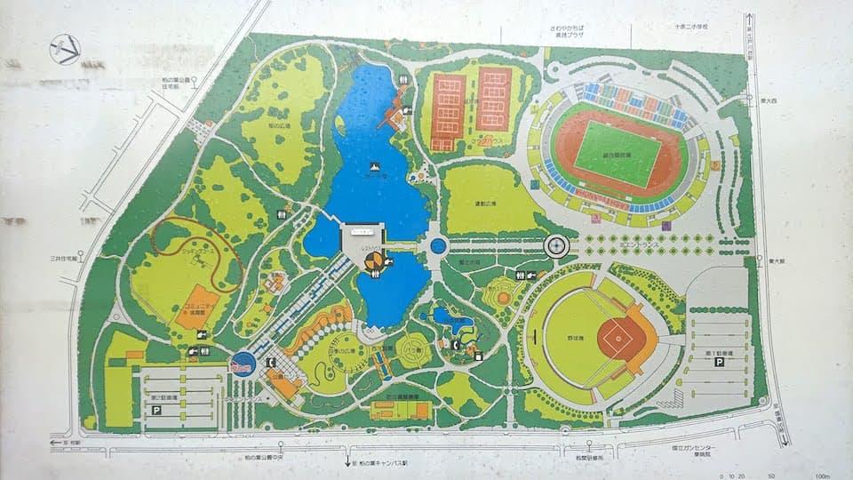 柏の葉公園 園内マップ