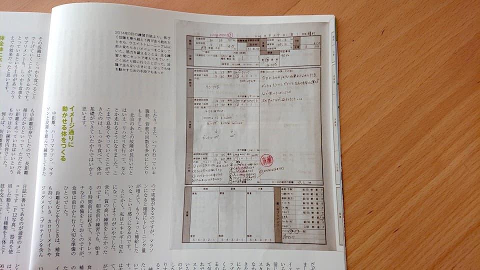 野口みずきさんの練習日誌