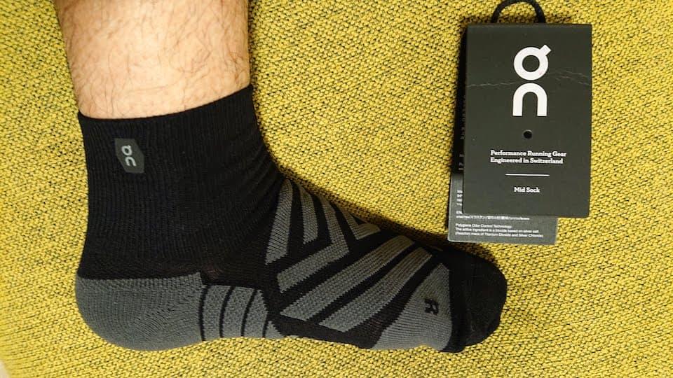 オン ランニングソックス Mid Sock【評価・レビュー】伸縮自在