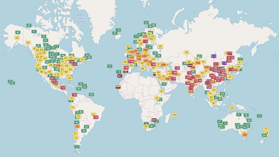 ランニング中の排ガス。気になる人は「大気汚染地図」をチェック